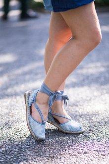 Эспадрильи женские голубые