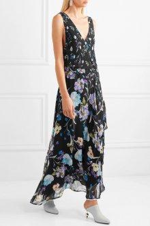 Платье с запахом цветочное