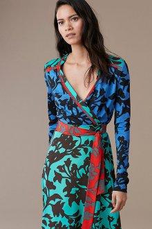 Платье с запахом комбинированное