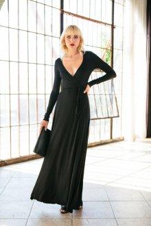Платье с запахом однотонное