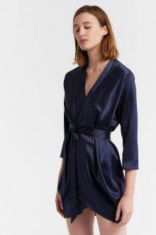 Платье с запахом шелковое