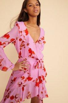 Платье с запахом сиреневое