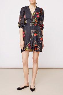 Платье с запахом и рукавом три четверти