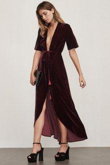 Платье с запахом вечернее бархатное