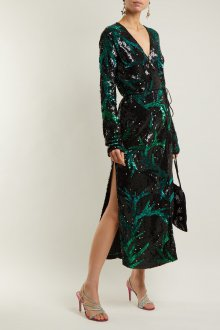 Платье с запахом блестящее