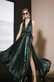 Платье с запахом плиссе