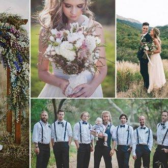 Стиль Бохо на свадьбе