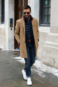 Какую обувь носить с мужским пальто