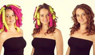 Как накрутить волосы на бигуди-липучки, чтобы получилась голливудская волна