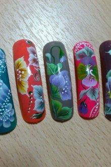 Китайская роспись в маникюре для начинающих