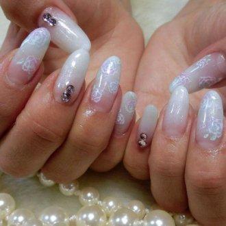 На наращенных ногтях