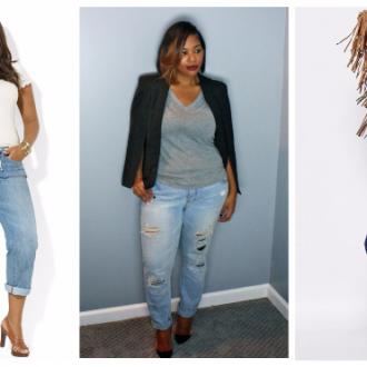 С чем носить джинсы полным женщинам