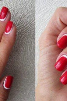 Оформление идеальной линии лунки ногтя