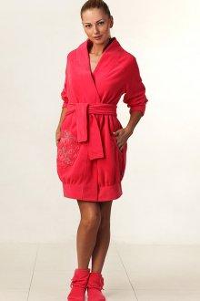 Модный домашний красный халат