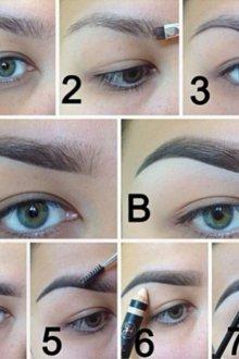 Как накрасить брови тенями