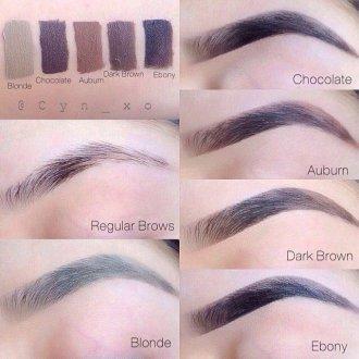 Как подобрать цвет теней для бровей