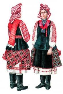 Женские и мужские наряды