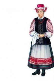 Преобладающие цвета и оттенки в национальном костюме