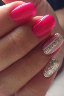 Золотой и нежно-розовый