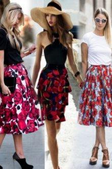 Создаем эффектный образ с помощью юбки-клеш