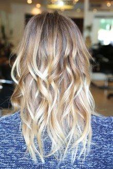 Средне-русые волосы с градиентом к светлому