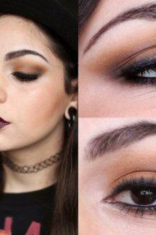 Тени для темно-коричневых и черных глаз