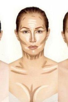 Пошаговые схемы коррекции: типы лица