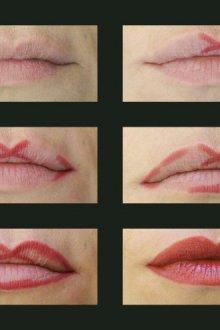 Редактирование формы губ