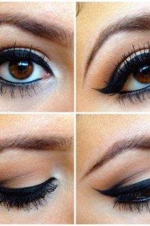 Фото урок вечернего макияжа для карих глаз