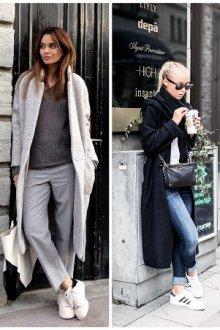 Можно ли носить пальто с кроссовками