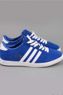 Adidas Gazelle синие с белым