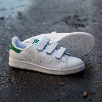 Adidas Stan Smith белые c зеленым