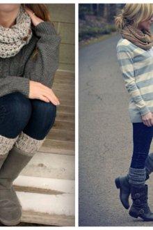 Гетры с джинсами