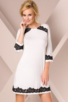 Белые платья с черным кружевом