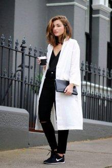 Женский белый пиджак