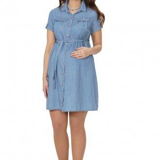 Джинсовое платье рубашка для беременных