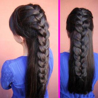Красивая прическа с косой для девочки