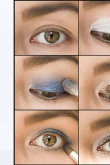 Особенности макияжа к синему платью