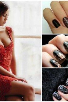 Особенности маникюра под платье красного цвета