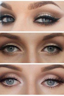 Макияж для визуального увеличения глаз