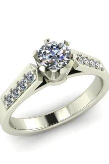 Оригинальные кольца для трогательной помолвки