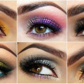 Разные тени для карих глаз