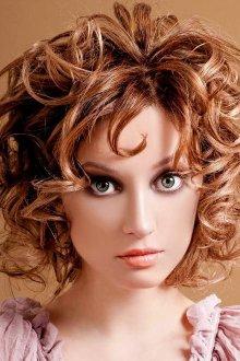 Кудряшки на короткие волосы