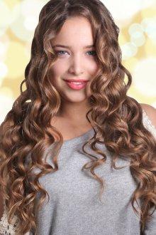 Кудряшки на длинные волосы