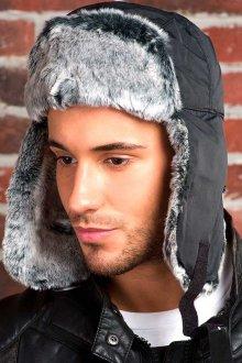 Модная мужская шапка-ушанка