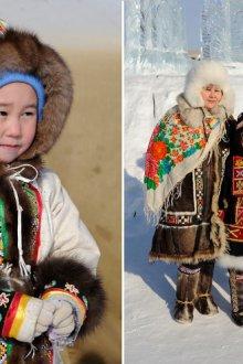 Примеры первых якутских костюмов
