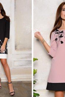 Свободное платье-трапеция