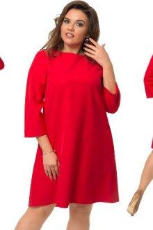 Платье-трапеция для полных