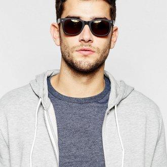 Мужские солнцезащитные очки в черной оправе