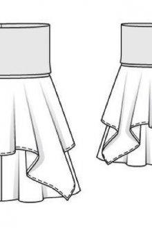 Как сшить женскую юбку на кокетке: выкройки